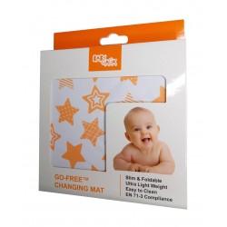 Baby Gaga Go-Free尿布墊 (橙色) ~ 星型圖