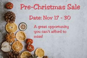 Pre-Christmas-Sale 2019