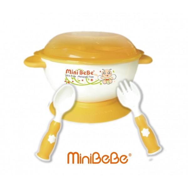 MiniBeBe 防滑兒童餐具組