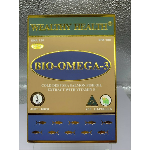 Wealthy Health 深海三文魚油‧奧米加3